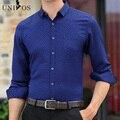 New Spring 2016 Men Shirt Casual Slim Long Sleeve Shirt For Male designer Print Brand Dress Shirt Chemise Homme Asian Size Z2572