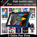 Slim Magnetic Folding Flip PU Case Cover for Lenovo Tab3 7 TB3-730F / 730M, painting Skin Case for Tab 3 7 730F TB3-730F+gift