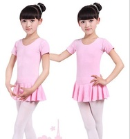 Children Baby Girls Short Sleeve Leotard Ballet Tutu Dress Clothes 3 14Y Kids Skating Dance Costume