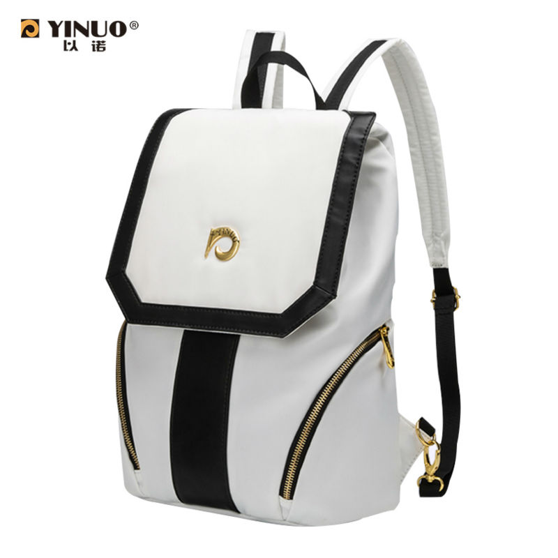 все цены на  YINUO 11 inch Waterproof Laptop Bag Backpack notebook women men's Shoulder Bag Anti-theft Students bag For Macbook air iPad Pro  онлайн