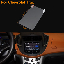 Car Styling 7 Inch GPS Navigation Screen Steel Protective Film For Chevrolet Trax Control of LCD Screen Car Sticker