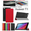 Leather cover Case funda For Huawei MediaPad T1 7.0 T1-701u Tablet cover case +Screen Protector film + Stylus Pen