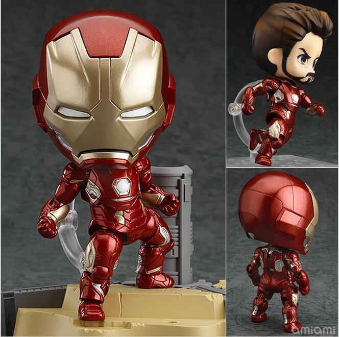 Iron Man Mark 45 Hero Edition Nendoroid #545 PVC Action Figure Collectible Model Toy 10cm