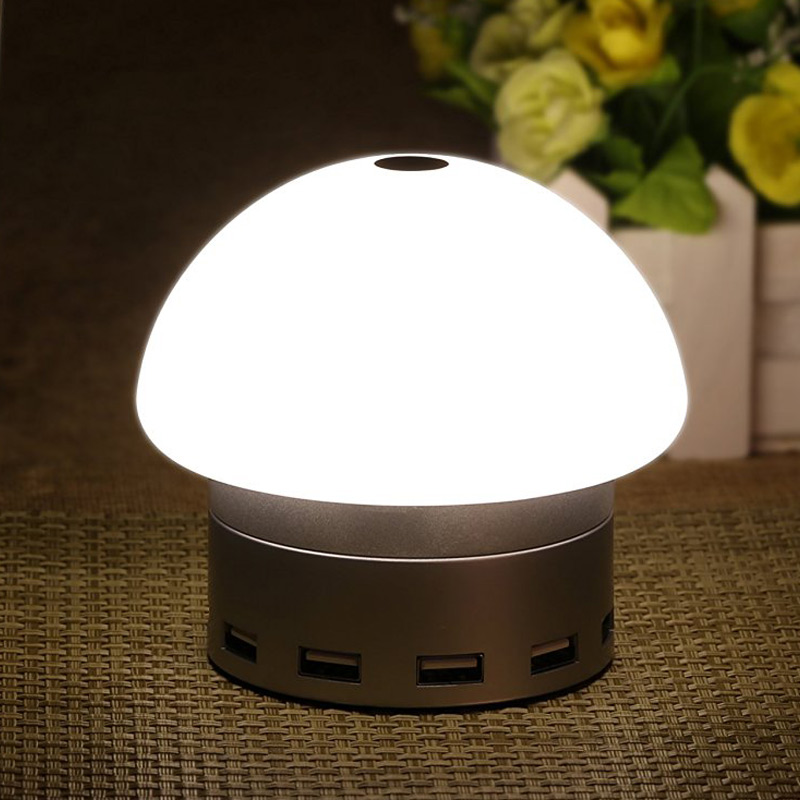 ФОТО Home LED Desk Lamp Lights Touch-Sensitive Control 6 USB Charging Port Table Lamps 2016 Q99 --M25