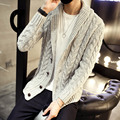 2016 Brand Clothing autumn winter warm men's cardigan sweaters casual outwear  Twisted Knitting coat men clothing XXXL