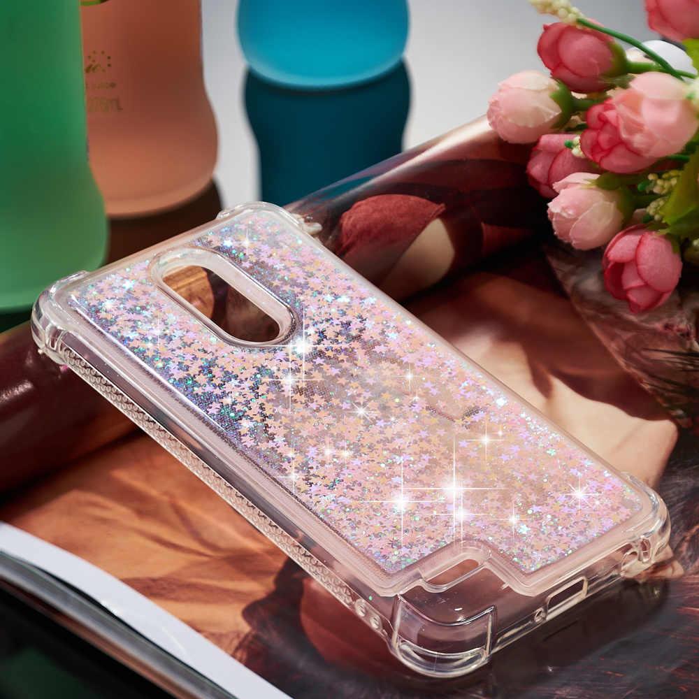 Для LG K11 Plus милый блестящий чехол LG K30 X4 X4 + мягкая ТПУ задняя крышка Феникс Плюс Xpression блестящие жидкие зыбучие песочные чехлы