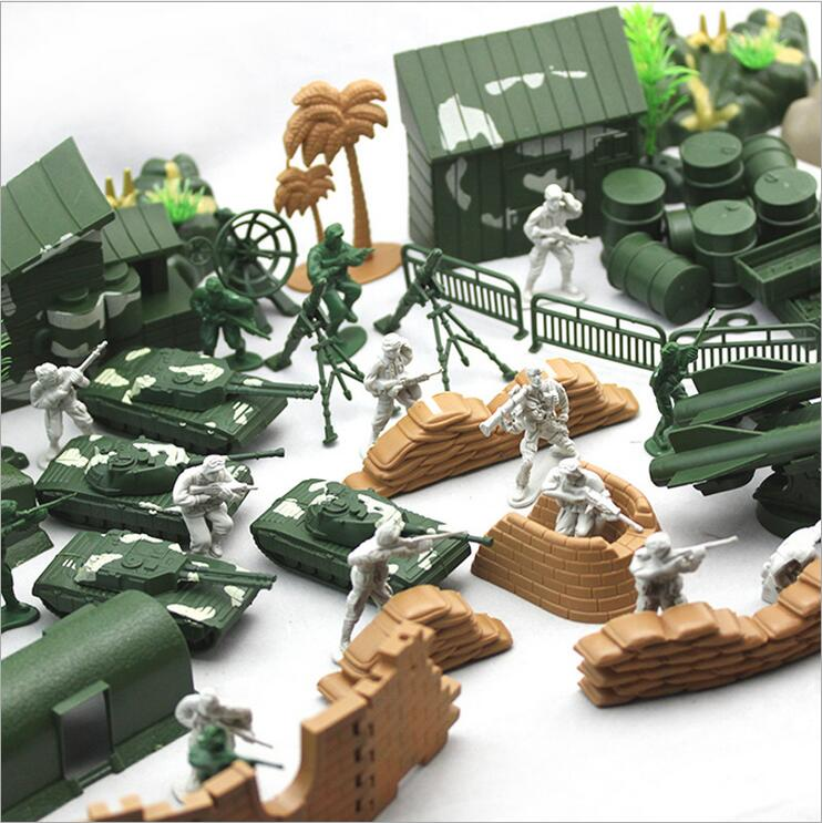 ( 90 pcs/set ) Classic Children WWII Second World War Soldier Military Model Actions Figures Set Gift for Commander Boys Toys