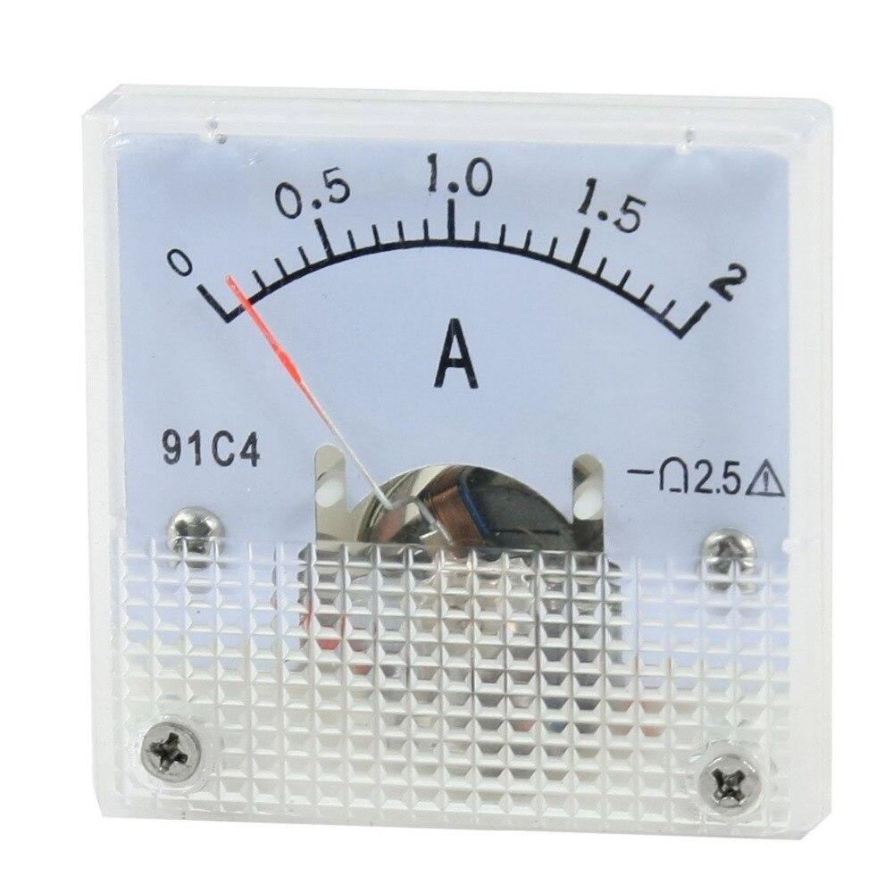 Измеритель постоянного тока 0-2A 91C4 DC 0-2A аналоговый панельный Амперметр