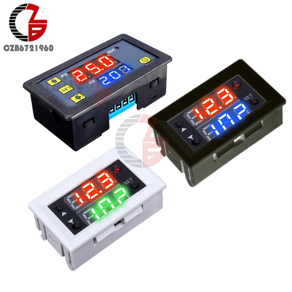 12 v 110 v 220 v LED הכפול תצוגה דיגיטלי זמן עיכוב ממסר מודול עיכוב עיתוי מחזור טיימר ממסר שליטה מתג זמן ממסר מודול