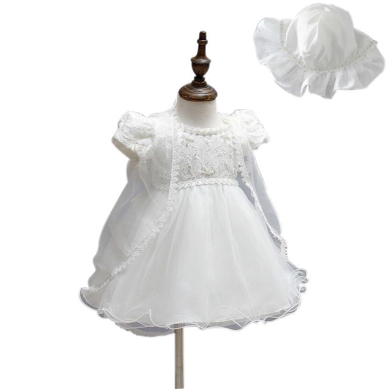 Småbarn Tjej Dop Klänning Juldräkter Baby Tjejer - Babykläder
