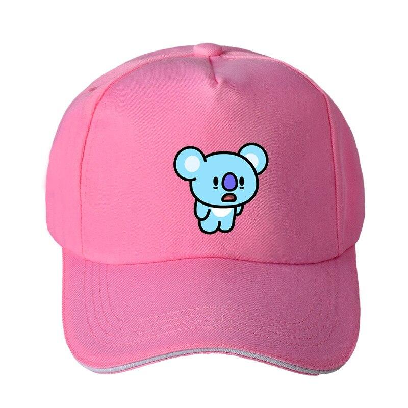 Kleidung & Accessoires Das Beste Kpop Bts Stil Sport Kappe Baseballkappe Schwarz Baseballcap Weiß 1x Basecap Rosa Hüte & Mützen