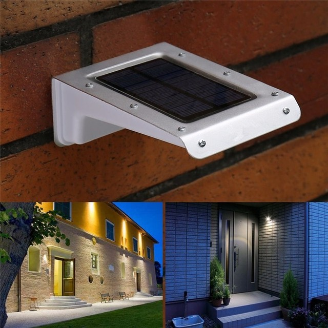 20 LED Solar Lamps Human Body Motion Sensor Ray Garden Home Security  Outdoor Wall Light Waterproof
