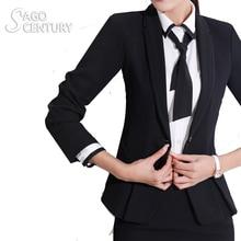 2017 Slim Women Work Office Lady Business Outwear Solid Uniform Tops Coat Long Sleeve Blazer Jacket