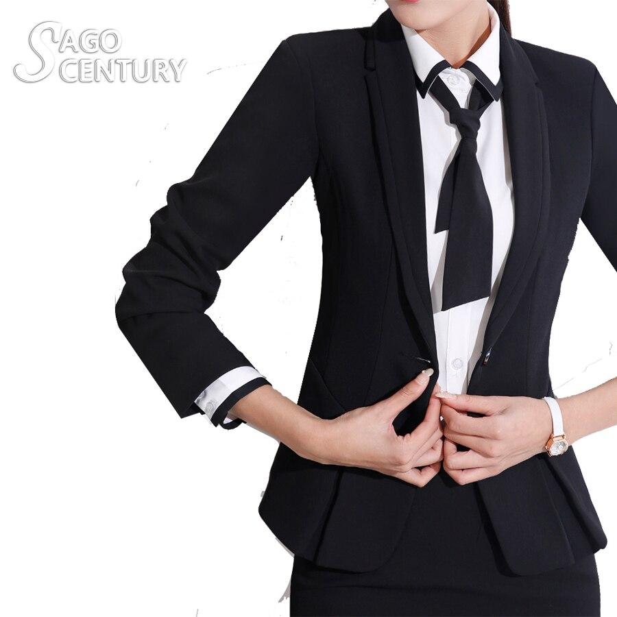 2017 Slim font b Women b font Work Office Lady Business Outwear Solid Uniform Tops Coat