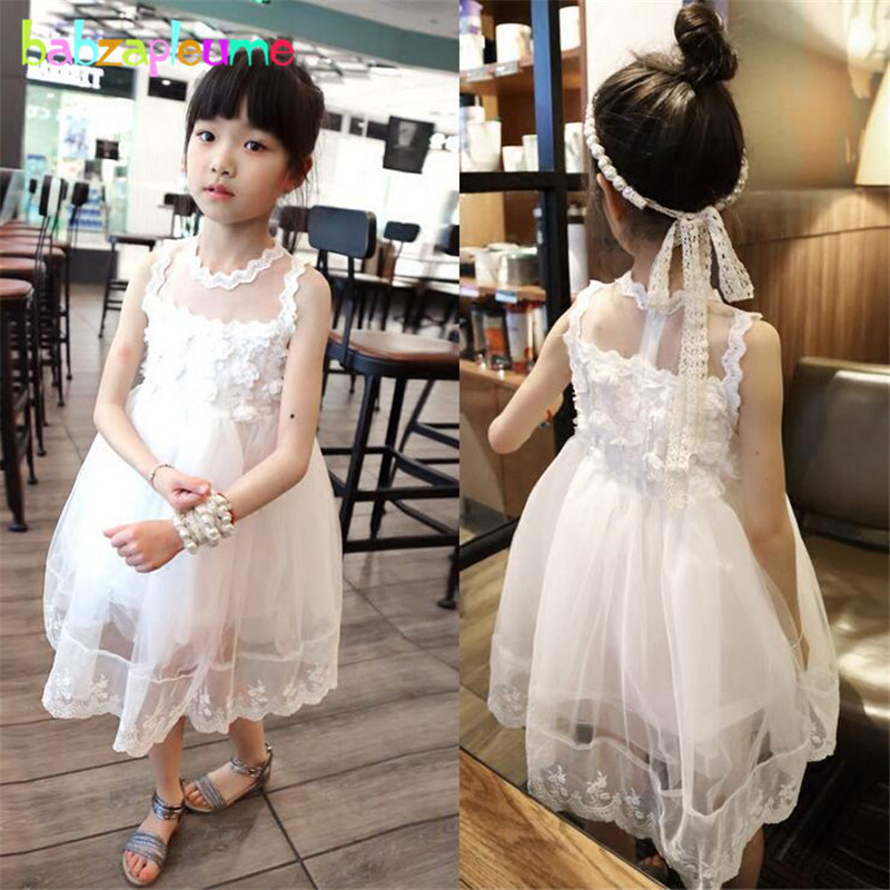 Kids Dresses Mesh Sleeveless Baby Girls Clothes Flower Design infant Dress Birthday Party Wedding Girl tutu Dress Clothing A007 new 2016 fshion flower girl dress kids clothing party wedding birthday girls dresses baby girl white pink rose dress