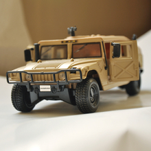 Desert Military HUMMER H1 WAGON BLACK 1:24 DIECAST MODEL CAR BY Collectible Alloy Car Kids Toys brinquedos