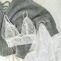 Sexy Mujeres Tops Moda Sling Mujeres Blusas de Las Señoras Camis Halter Sexy Tank Tops Lencería Bralette Encaje Tops Cultivos