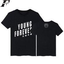 2017 harajukuBTS kpop koren Young Forever Summer White fitness T-shirt men Women tumblr Bangtan Boys T shirt Plus Size 4XL