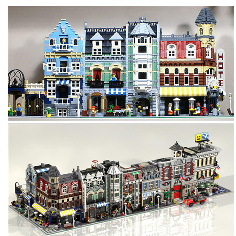 lepin city lepin 15001 15002 15003 15004 15005 15006 15007 15008 15009 15010 15011 15016 15017 15018 15019 building blocks Toys конструктор lepin creators зоомагазин 2082 дет 15009