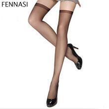 340f9492496 FENNASI Summer Sexy Nylon Stockings Woman Black Thigh High Pantyhose  Compression Knee High Stockings Long Socks Over Knee Socks