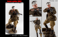 Scale Models 1/ 16 120mm Soviet Soldier WW2 120mm figure Historical WWII Resin Model Free Shipping