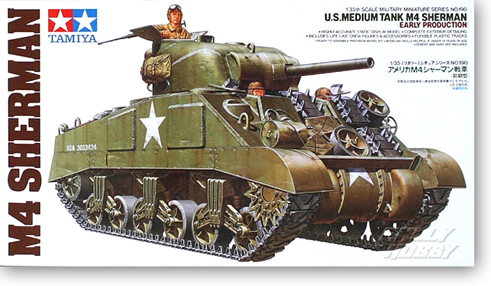 1 35 American M4 Sherman Early Tank Model 35190