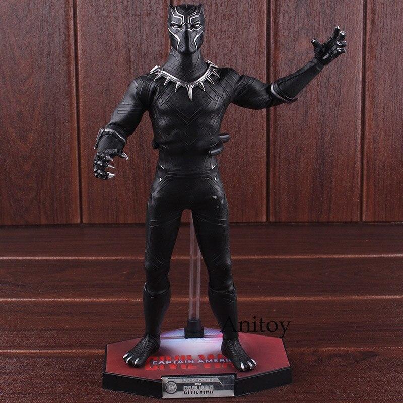Marvel komiksy Marvel figurka czarna pantera rysunek na zakochujemy się Wakanda King czarna pantera zabawki lalki 31cm w Figurki i postaci od Zabawki i hobby na  Grupa 2