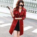 New 2017 Spring Coat Slim  Trench Coat For Women Double-breasted women coat Sashes Coat Female Khaki Windbreaker Women H31303