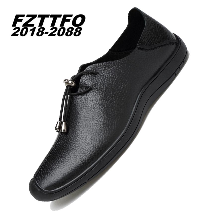 Size 37-45 Men Soft Genuine Leather Casual Shoes,FZTTFO 2018-2088 Brand Design Shoes,Spring Autumn Loafers Shoes For Men K488 top brand high quality genuine leather casual men shoes cow suede comfortable loafers soft breathable shoes men flats warm