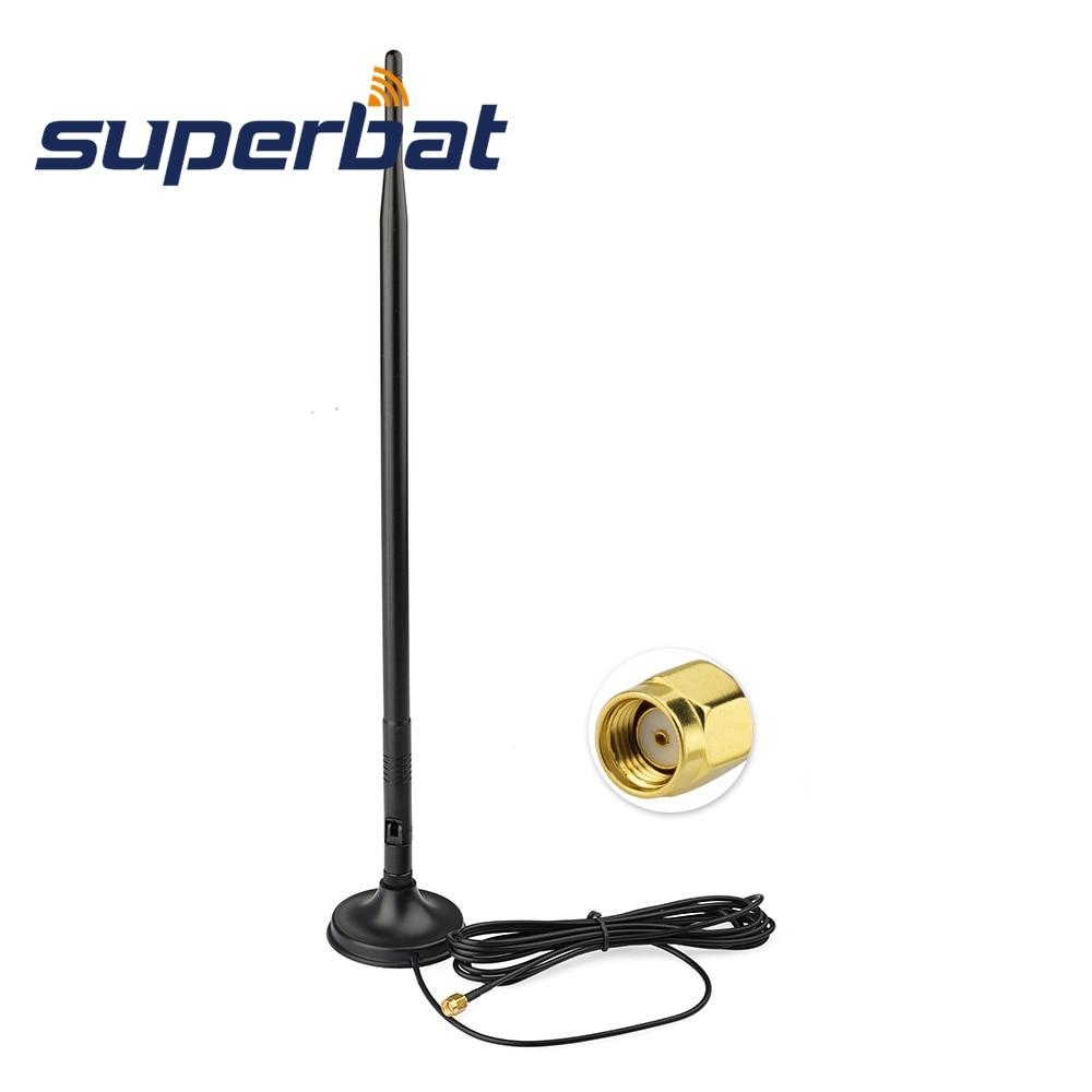 Superbat WiFi антенна 2,4 ГГц 12dBi Omni антенна усилитель RP-SMA 280 см кабель для IEEE 802.11b/g беспроводной маршрутизатор WLAN PCI карта