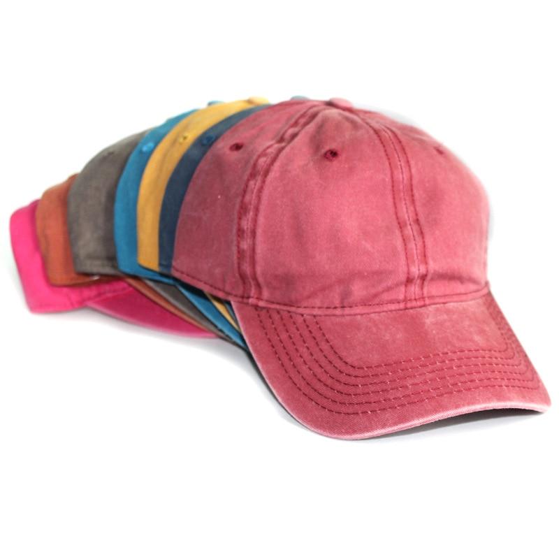 Prix pour 2016 New Pass coton Polo chapeau casquette de baseball lavé Twill Snapback chapeau pour hommes et femmes solides Casual Vintage