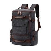 Мужской холщовый рюкзак мужской вместительный рюкзак 15.6» 17-дюймовый ноутбук сумки Открытый путешествия Back Pack-подростков багаж для путешествий альпинизмом