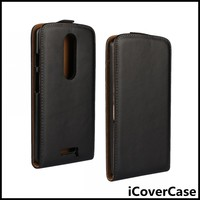 Real Leather Flip Cover Phone Case For Motorola Moto X Force