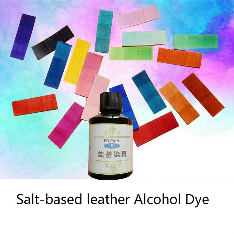 20 couleurs 50 ml artisanat à base de sel cuir alcool colorant peinture tannage végétal cuir peinture teinture agent