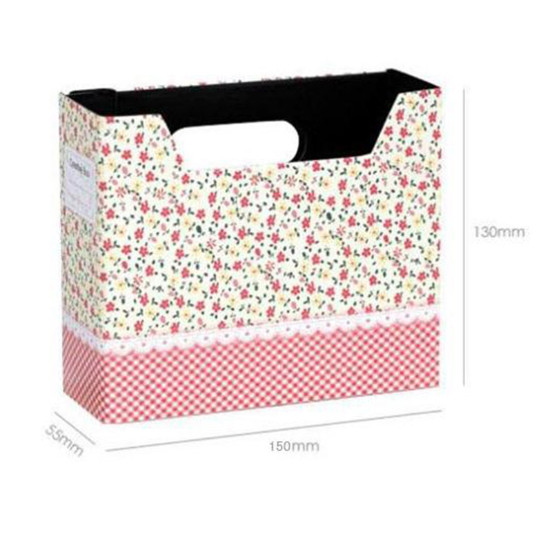 Makeup Cosmetic Stationery Storage Box Paper Board Desk Clean Tidy Decoration for Home Office Organizer (Random Color)