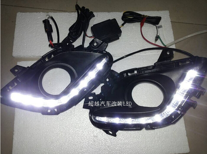 for Mazda 6 M6 ATENZA 2013 2014 LED DRL Daytime running light Fog lamp with dimmer function Super bright Top quality cheetah for mazda 3 6 atenza axela daytime running light