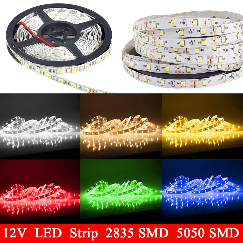 12v rgb tira led strip lights 5050 fita de led strips not waterproof flexible neon bande ribbon. Black Bedroom Furniture Sets. Home Design Ideas