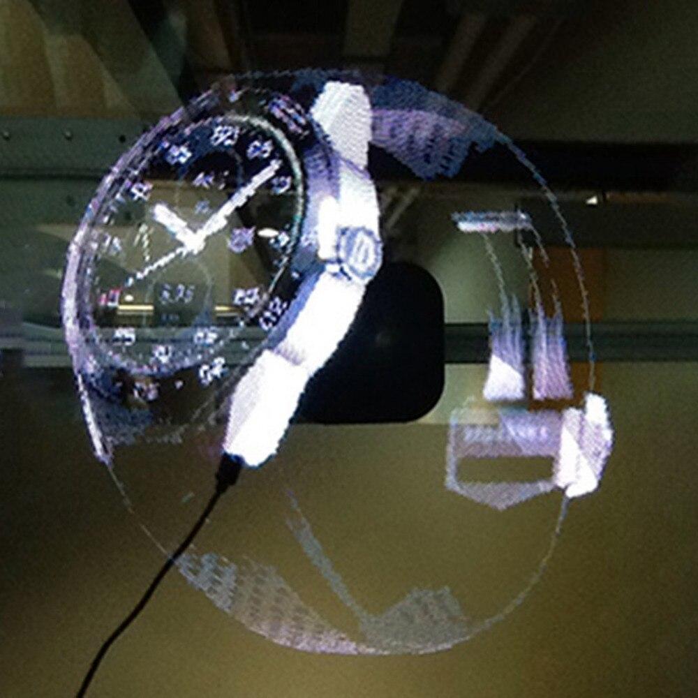 ICOCO nouveau LED projecteur holographique Portable hologramme lecteur 3D holographique affichage ventilateur Unique hologramme projecteur nouvel an
