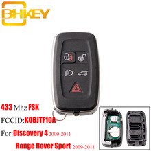 BHKEY 5Button Smart Remote key For Land Rover KOBJTF10A 433Mhz For Land Rover Range Rover Sport Discovery 4 2009-2011 FOB key