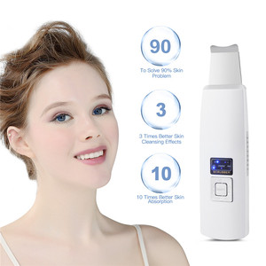 Image 1 - USB Rechargeable Ultrasonic Vibration Skin Scrubber Face Skin Peeling Extractor Acne Blackhead Remove Exfoliating Scraper Shovel