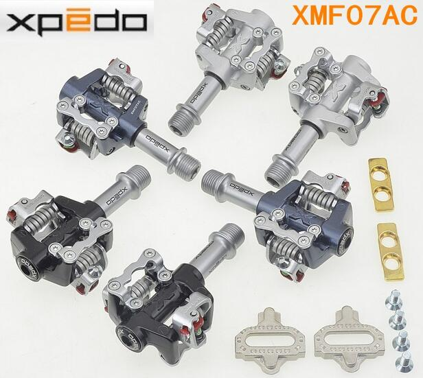 High Model Wellgo Xpedo XMF07AC MTB Mountain Bike Clipless Pedals With Cleats SPD Compatible for ultra XT / M780 lock tread shimano pd m520 mtb mountain bike clipless pedals with spd cleats sm pd22 black