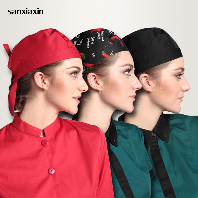 Sanxiaxin Chef Hat Hotel Kitchen Restaurant Cap High Quality Waiters Ribbon Hats For Man And Woman Adjust Funky Chief Hat
