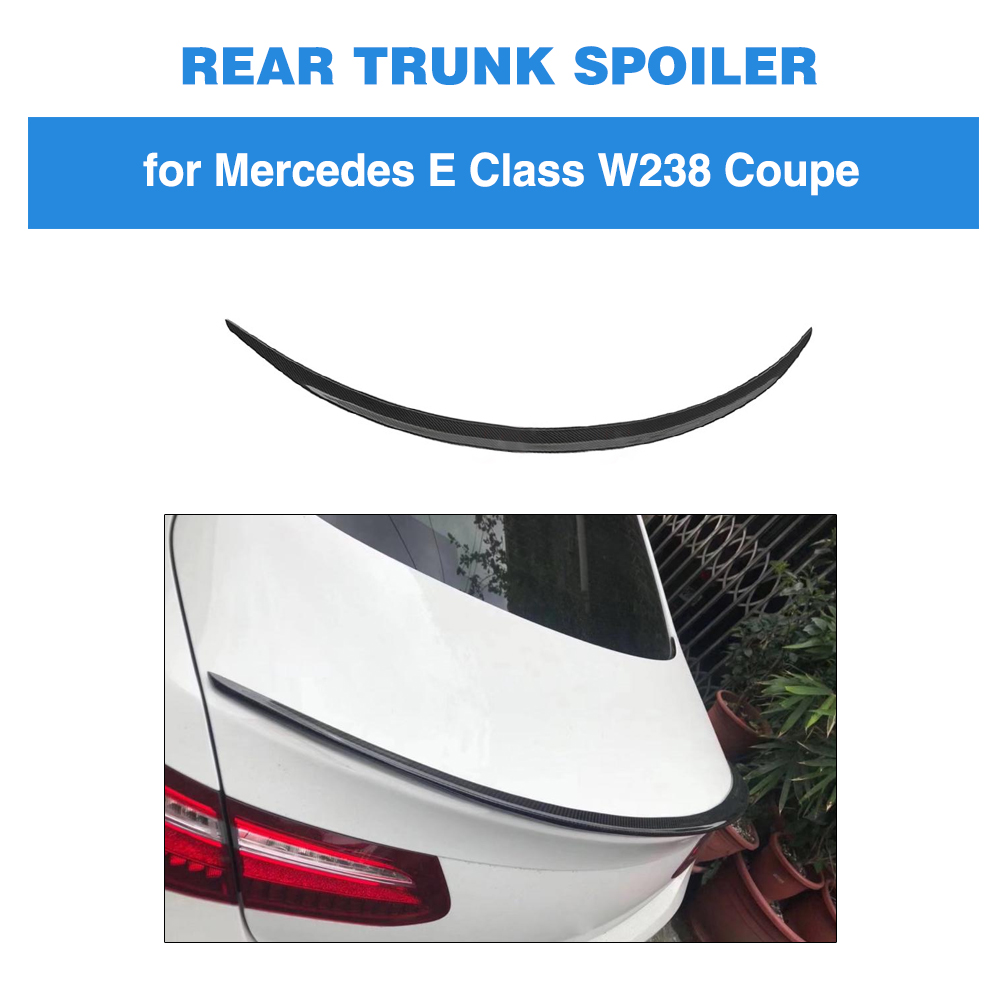 For Mercedes-Benz E Class W238 <font><b>C238</b></font> E250 E400 E500 E550 2017 - 2019 Carbon Fiber Rear Trunk <font><b>Spoiler</b></font> Wing Boot Lip image