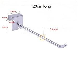 (200 unidades/pacote) 20cm de comprimento 6mm diâmetro varejo anti roubo dispositivo loja segurança display gancho bloqueio
