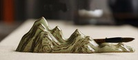 Five Peak Porcelain Paperweight Brush Rest Calligraphy Painting Sumi e Tool