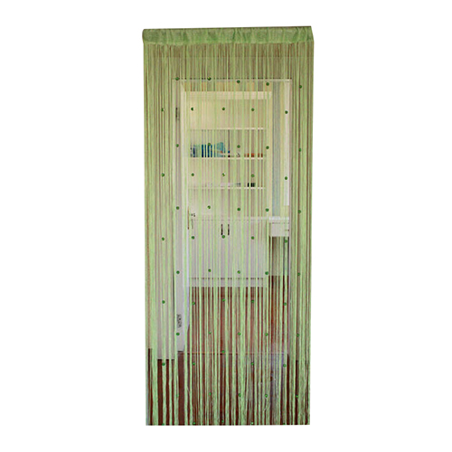 Practical Boutique New Beaded String Curtain Door Room Divider Tassel Screen Panel green