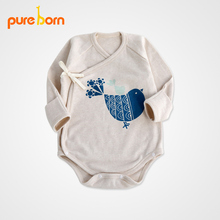 Toddlers Clothing Baby Rompers New 2017 Spring Style Baby Boy Girl Clothes Cotton Newborn 0~12 month Kids Rompers Pureborn