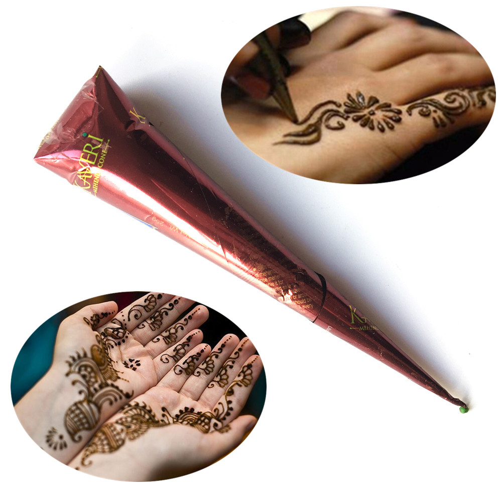 Henna Tattoo Color Brown: Fashion Indian Mehndi Henna Tattoo Paste Cones Brown Color