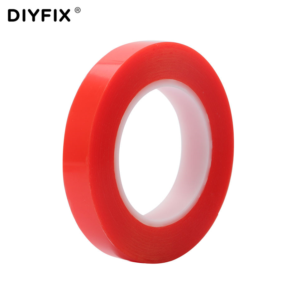 DIYFIX 1 Roll 25M Clear Sticker Heat Resistant Double-sided Transparent Adhesive Tape for Phone LCD Repair Tool 10 mm 20mm image
