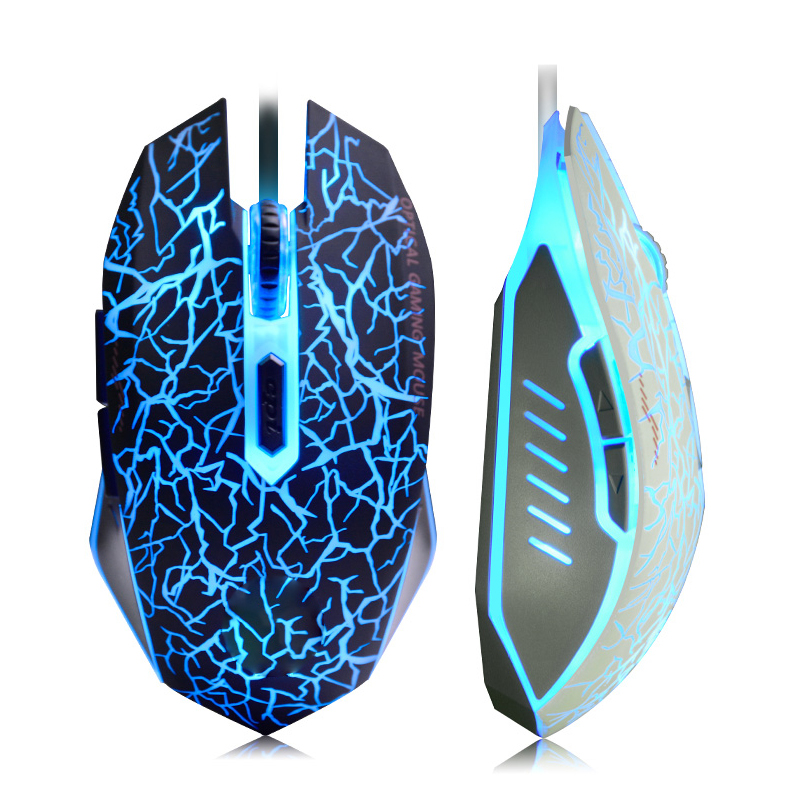 USB Optical Wired Game Mouse  For Computer PC Laptop  Gamer Mouse Dota 2 LOL  Black White